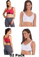 Jockey Women's Gym Sports Bra Slip On Active Bra # 1376 Size- S M L XL XXL