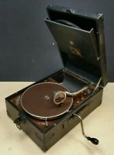 HMV 101 Gramophone Wind-up Record Player 78rpm Vintage Antique 1930s Black