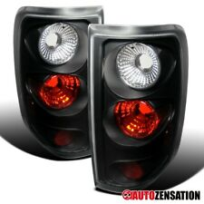 For 2004-2008 Ford F150 Styleside Black Clear Tail Brake Lights Lamps Pair