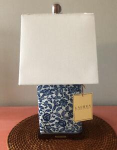 RALPH LAUREN Blue & White Mandarin Floral Porcelain Table Lamp New
