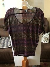 Charlotte Russe Womens Small Multicolor See-Thru T Shirt Top