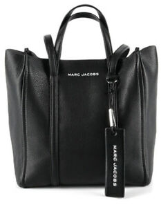 Marc Jacobs The Tag 27 Shoulder Tote Black Leather Satchel NWT  $395