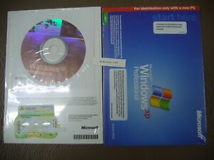MICROSOFT WINDOWS XP PROFESSIONAL w/SP2 FULL OPERATING SYSTEM MS WIN PRO =NEW=