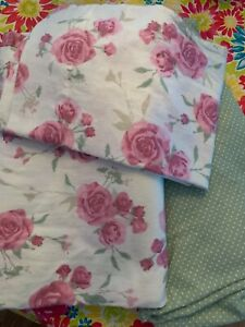 Sonoma 3 Piece Twin Flannel Sheet Set Pink Mauve Roses 100% Cotton New