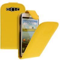 Para Samsung Galaxy S3/i9300 Móvil Funda con Tapa Funda Amarillo Funda