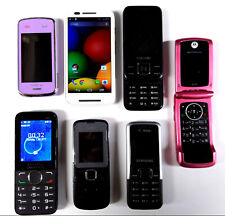 7 Mobile Phones Old Retro Untested Job lot Nokia Samsung Motorola smart andriod