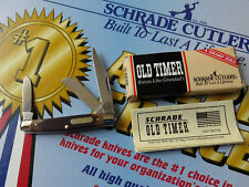 SCHRADE USA Old Timer Middleman Stockman Knife 34OT - NEW 3-Blade Stock 340T Box