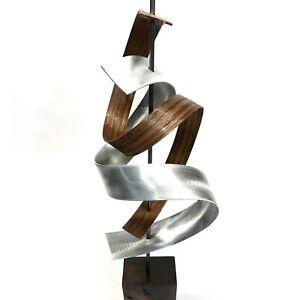 Black Walnut Modern Wood Sculpture MidCentury Home Decor Contemporary Wooden Art