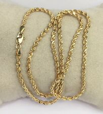 """18k Solid Yellow Gold Italian Rope Chain/Necklace. 18"""". 7.40 Grams"""