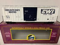 ✅MTH PREMIER CWI CONSOLIDATED WASTE INDUSTRIES 50' HIGH CUBE BOX CAR! HI O SCALE