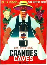 Original vintage poster FRENCH WINE GRANDES CAVES c1935