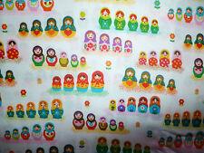 Clearance fq mini matriochka russian nesting dolls fleurs tissu kitsch