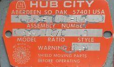 0220 60438 Hub City Worm Gear Reducer Style 185