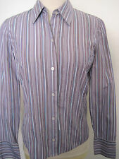 BROOKS BROTHERS Purple, Lavender Striped Cotton Button Down Shirt Size XS