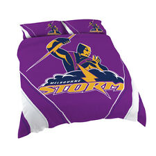 123760 Melbourne Storm Nrl Logo Design King Doona Quilt Cover Bed Set