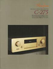 Accuphase c-275 Catalogo Prospetto Catalogue datasheet brochure