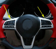 Matte Chrome Steering Wheel Trim For Nissan X-Trail Rogue 2017 2018 2 pcs