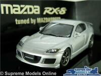MAZDA RX-8 RX8 MODEL CAR 1:43 SCALE SUNLIGHT SILVER AUTOART 55931 AUTO ART K8