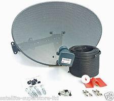 Sky / Sky HD / Freesat HD Satellite Dish & Full 20m Twin Black Install Kit +MORE