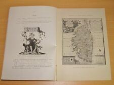 EXPOSITION UNIVERSELLE 1900 Musée Rétrospectif Classe 14 CARTE TOPOGRAPHIE CORSE