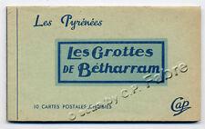 CAP, CARNET 10 CARTES POSTALES : GROTTES DE BÉTHARRAM PYRÉNÉES