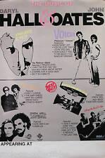 HALL & OATES 1982 RCA PROMO UNUSED TOUR POSTER ORIGINAL