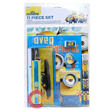 Despicable Me School Stationary Set 11pc Value Pack Note Pencil Pouch Folder Set