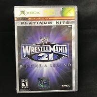 WWE WrestleMania 21 Become a Legend (Platinum Hits) (Microsoft Xbox, 2005) NEW