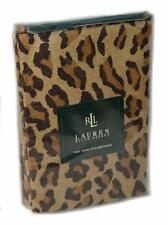 RALPH LAUREN Aragon Leopard Sateen KING PILLOWCASES SET COTTON RARE Medieval
