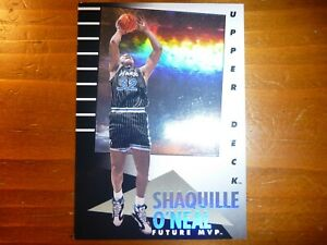92 93 NBA UPPER DECK SHAQUILLE O'NEAL FUTURE MVP ROOKIE INSERT CARD!