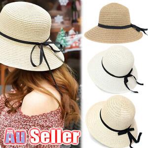 Hot Women's Beach Elegant Brim floppy Wide Bohemia cap KB Sun Hat Summer Straw