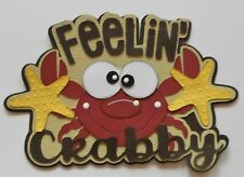 Craftecafe Title Embellishment Die Cut 4 Cards Scrapbook pages Free Shipping