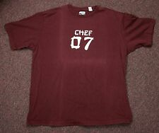 Blue Tibet Chef 07 Maroon Red Heavyweight Cotton Men's T-Shirt - Lg