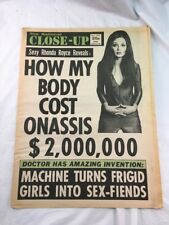 National Close-Up 60s Old Tabloid Trashy August 18 1969 Rhonda Royce Front Cover