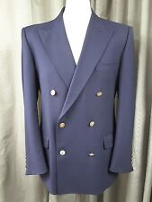 Jaeger Double Breasted Gold Button Navy Wool Blazer 40S EXCELLENT CONDITION