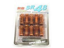 Muteki SR48 Extended Open Ended Wheel Tuner Lug Nuts Chrome Orange 12x1.5mm NEW