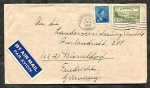 p501 - VANCOUVER 1950 Airmail Cover to Germany