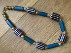 Antique Glass Venetian African Trade Beads Old Six Layer Chevrons   Nueva Cadiz