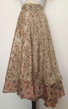 Silk Wrap Around Skirt Reversible Hippie Hobo Gypsy Handmade Nepal XS-XL S2