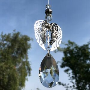 New Hanging 3D Angel Wing Sun Catcher with Glass Crystal ~ Gift Idea ~ Memorial