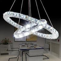 DIY Modern Luxury Oval Crystal Chandelier Pendant Light Ceiling Lamp Home Decor