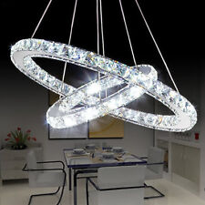 DIY Modern Luxury Oval Crystal Pendant Light Chandelier Ceiling Lamp Home Decor