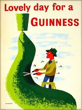 Guinness Beer Seal Ireland Great Britain Vintage Travel Art Poster Print