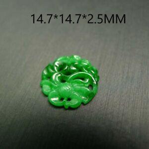 Hollow out Carved Jadeite Jade Grade A Natural Myanmar Burma Loose Jade