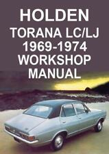 HOLDEN TORANA LC & LJ 1969-1974 WORKSHOP MANUAL