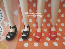 Doll Shoes ~ 2PAIRS Takara Tomy Licca Heel Sandal Shoes - Jenny/Ob27cm/Momoko