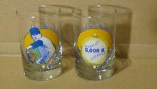 Nolan Ryan Set of 2 Glasses Ryan Express & 5000 K Texas Rangers HOF Pitcher 1992