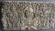 Antique Khmer Sandstone Carving Kala of Angkor Fragment Relic