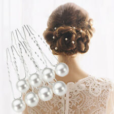 20PCS/Set Bridal Wedding Prom White Pearl Hair Pins Clips Barrette Hairpins New