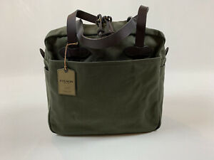 FILSON RUGGED TWILL TOTE BAG WITH ZIPPER OTTER GREEN  NWT